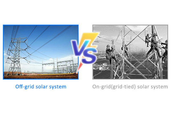 What is the difference between on-grid(grid-tied) solar system and off-grid solar system?